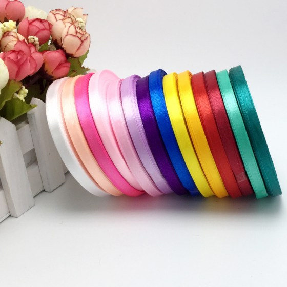 15-Colors-Solid-Color-1-roll-25-yard-1-4-6mm-Wide-Single-Face-Satin-Ribbon